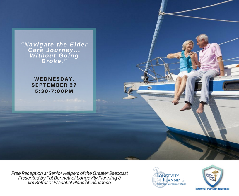 "Free Seminar: ""Navigate the Elder Care Journey…Without Going Broke."""